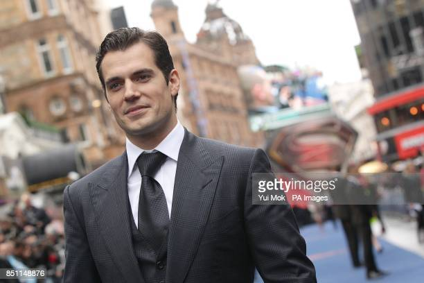 Henry Cavill arriving for the European premiere of Man of Steel at the Odeon Leicester Square London