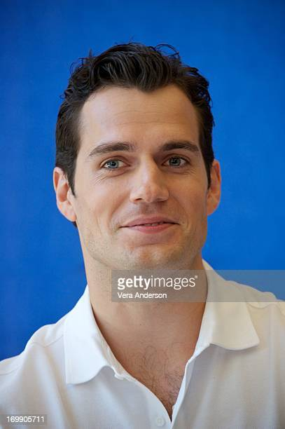 Henry Cavill at the 'Man Of Steel' Press Conference on June 3 2013 at Warner Brothers Studio in Burbank California