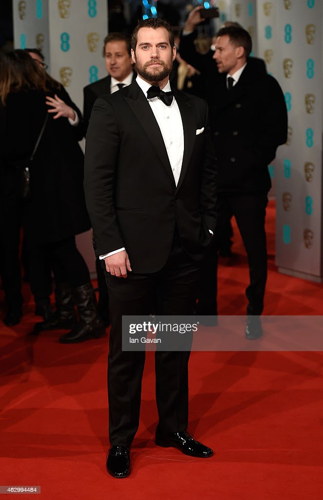 <a gi-track='captionPersonalityLinkClicked' href=/galleries/search?phrase=Henry+Cavill&family=editorial&specificpeople=3767741 ng-click='$event.stopPropagation()'>Henry Cavill</a> attends the EE British Academy Film Awards at The Royal Opera House on February 8, 2015 in London, England.