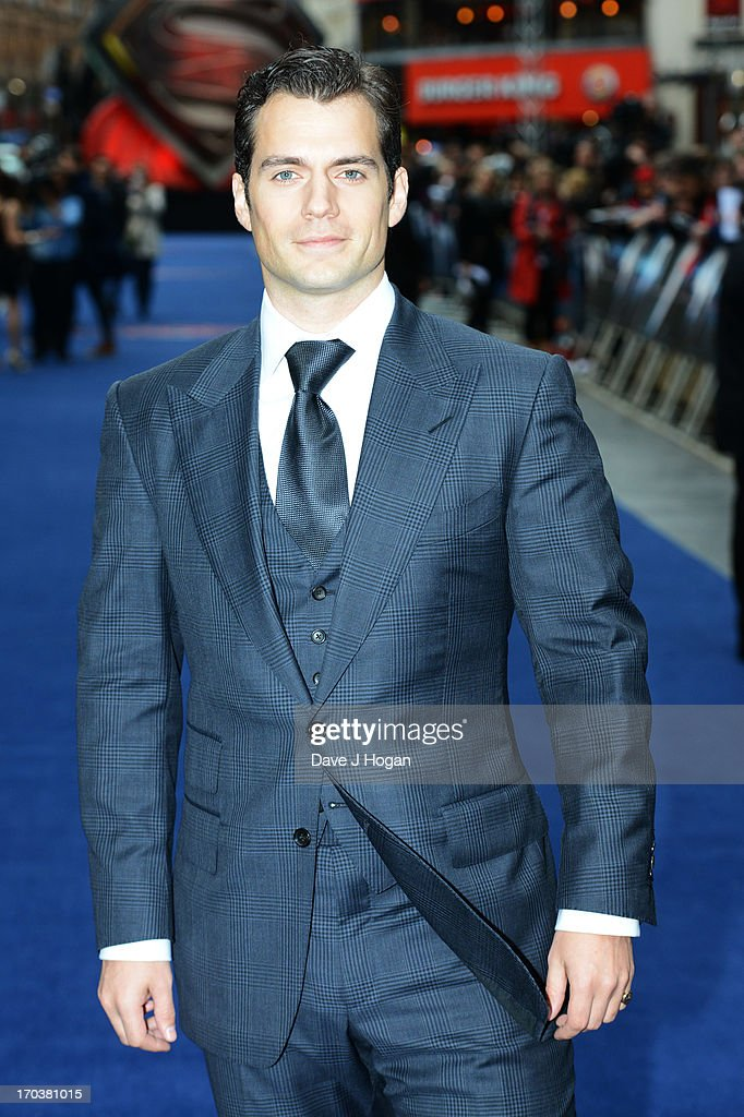 Henry Cavill attends the European premiere of 'Man Of Steel' at The Empire Leicester Square on June 12, 2013 in London, England.