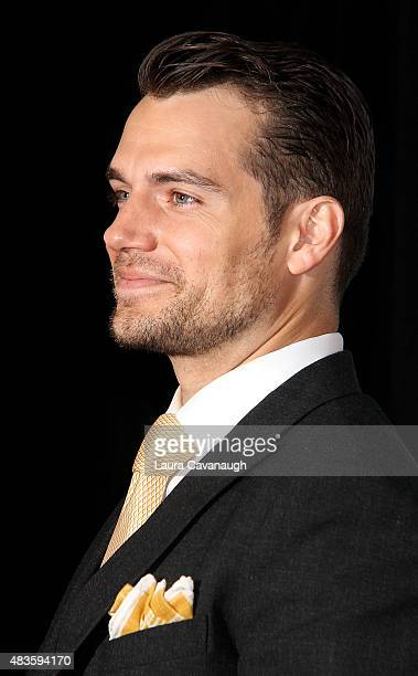 Henry Cavill attends 'The Man From UNCLE' New York Premiere Inside Arrivals at Ziegfeld Theater on August 10 2015 in New York City