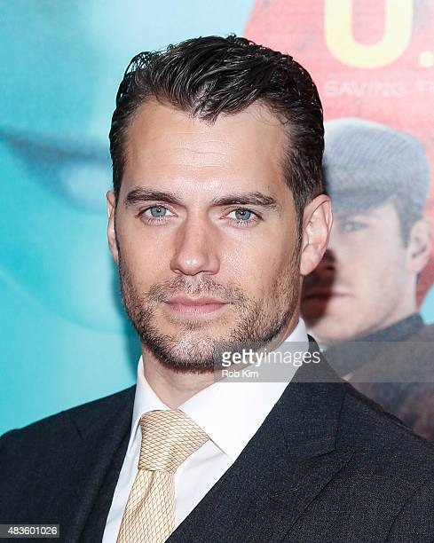 Henry Cavill attends the New York Premiere for 'The Man From UNCLE' at Ziegfeld Theater on August 10 2015 in New York City