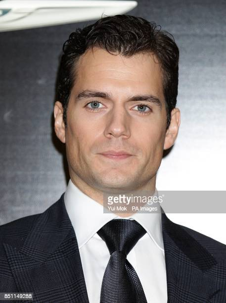 Henry Cavill during the European premiere of Man of Steel at the Odeon Leicester Square London