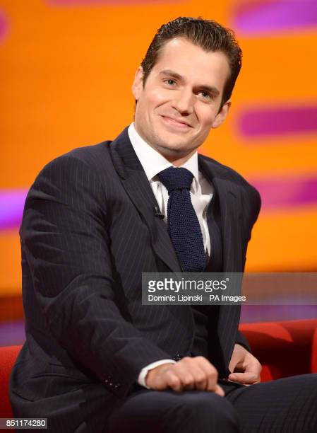Henry Cavill during the filming of this week's Graham Norton show at the London Studios in London