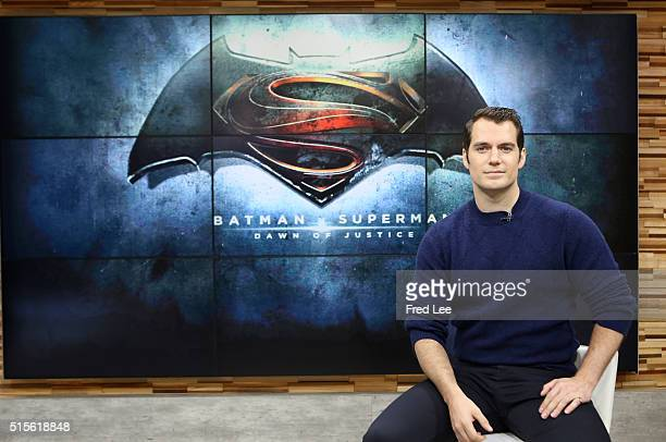AMERICA Henry Cavill is a guest on 'Good Morning America' 3/11/16 airing on the ABC Television Network HENRY