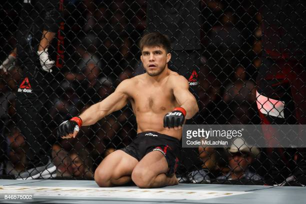 Henry Cejudo prepares to fight Wilson Reis during UFC 215 at Rogers Place on September 9 2017 in Edmonton Canada
