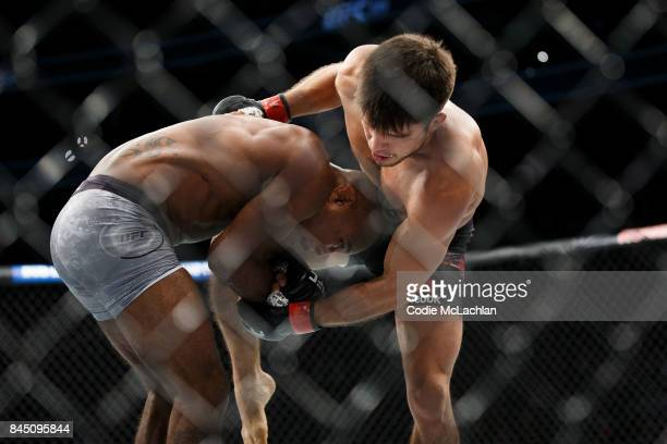 Henry Cejudo right fights Wilson Reis during UFC 215 at Rogers Place on September 9 2017 in Edmonton Canada