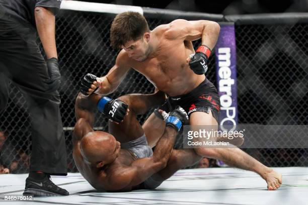 Henry Cejudo top fights Wilson Reis during UFC 215 at Rogers Place on September 9 2017 in Edmonton Canada