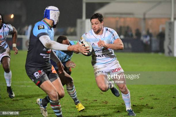 Henry Chavancy of Racing 92 during the Top 14 match between Racing 92 and Aviron Bayonnais Bayonne on February 11 2017 in Colombes France
