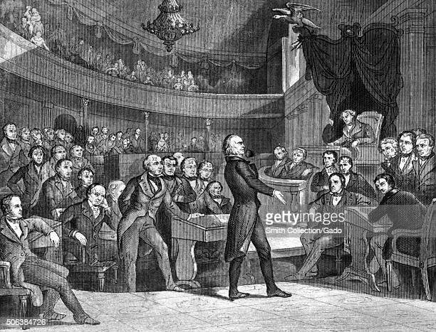 Henry Clay lawyer and orator delivering a speech 1840 From the New York Public Library
