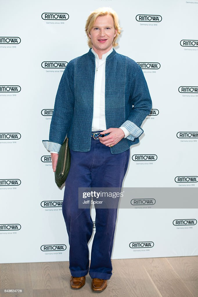 Henry Conway arrives for the RIMOWA store opening on June 29, 2016 in London, England.