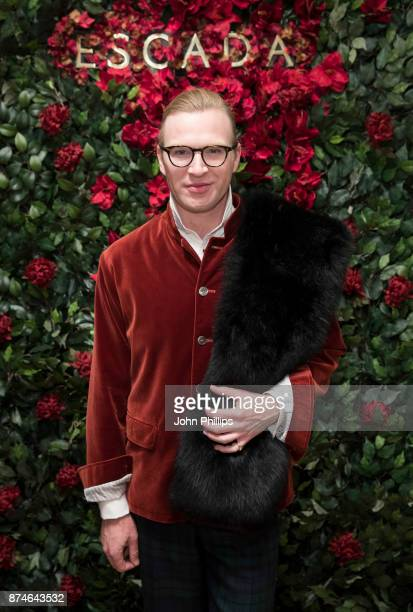 Henry Conway attends New Flagship Store Opening of Luxury Fashion Brand ESCADA on Sloane Street on November 15 2017 in London England