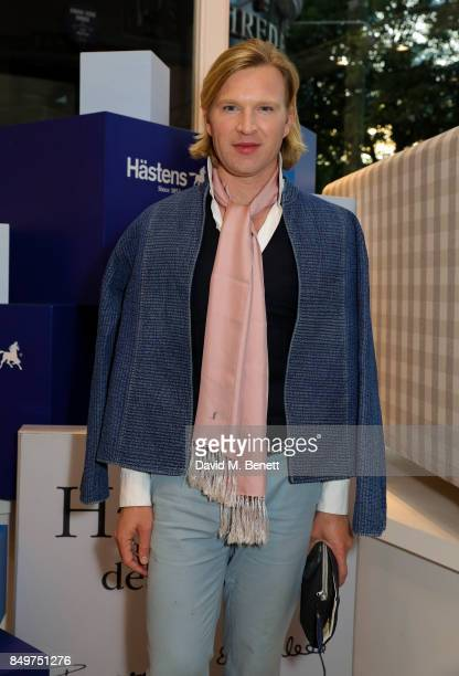 Henry Conway attends the launch party for Hastens Appaloosa The Marwari Beds at the Hastens Chelsea Showroom on September 19 2017 in London England