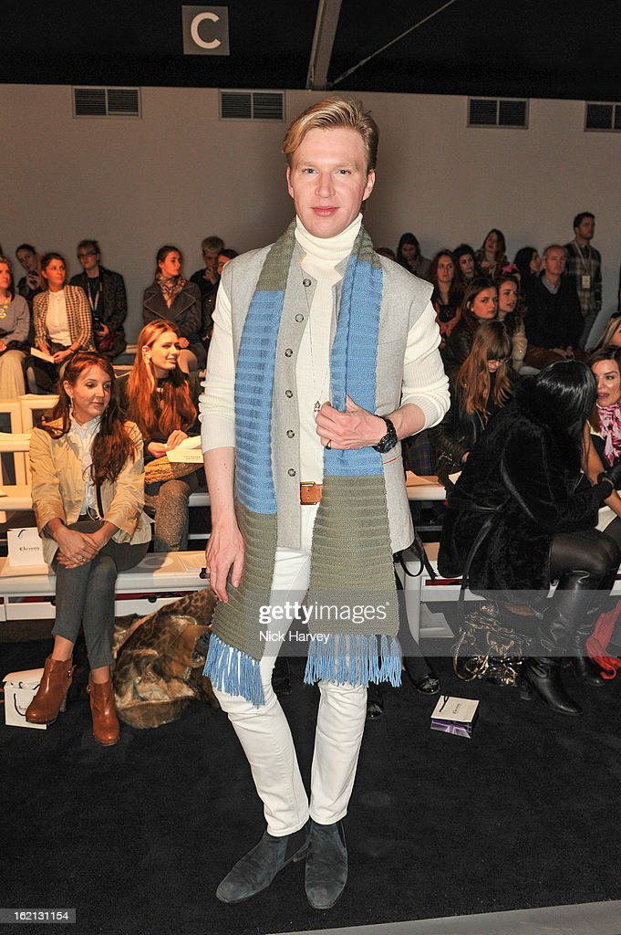 Henry Conway attends the Maria Grachvogel show during London Fashion Week Fall/Winter 2013/14 at Somerset House on February 19, 2013 in London, England.