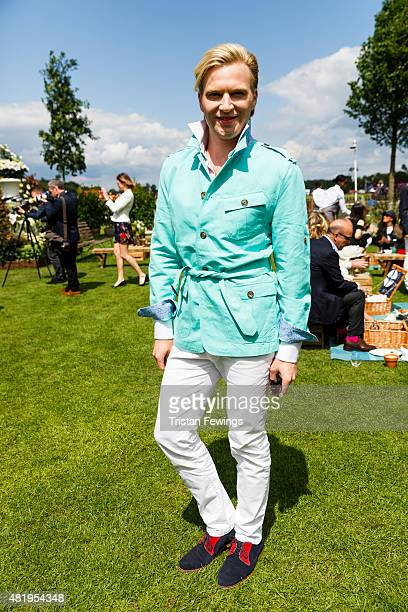 Henry Conway attends the Royal Salute Coronation Cup with Piaget the official timekeeper partner at Guards Polo Club on July 25 2015 in Egham England