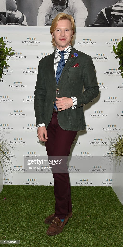 Henry Conway attends the Sandown Park Racecourse Ladies' Day STYLE AWARD Hosted by Rosie Fortescue at Sandown Park on July 1, 2016 in Esher, England.