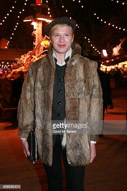 Henry Conway attends the Winter Wonderland VIP opening at Hyde Park on November 20 2014 in London England