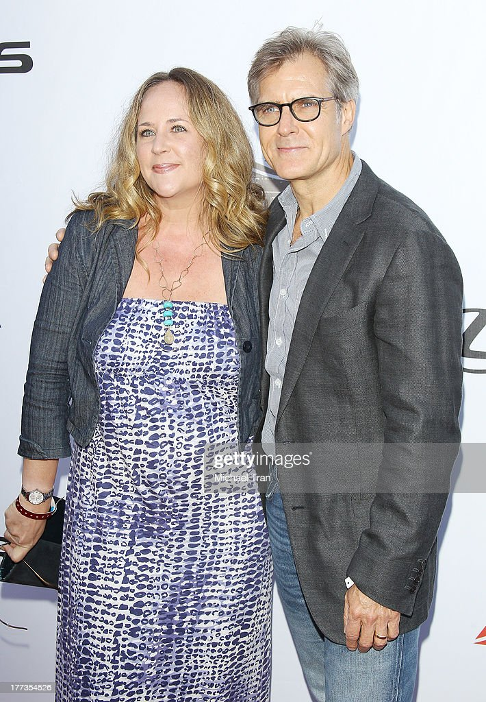 <a gi-track='captionPersonalityLinkClicked' href=/galleries/search?phrase=Henry+Czerny&family=editorial&specificpeople=832095 ng-click='$event.stopPropagation()'>Henry Czerny</a> (R) and Claudine Cassidy arrive at the 2013 Los Angeles Food & Wine Festival - 'Festa Italiana With Giada De Laurentiis' opening night held on August 22, 2013 in Los Angeles, California.
