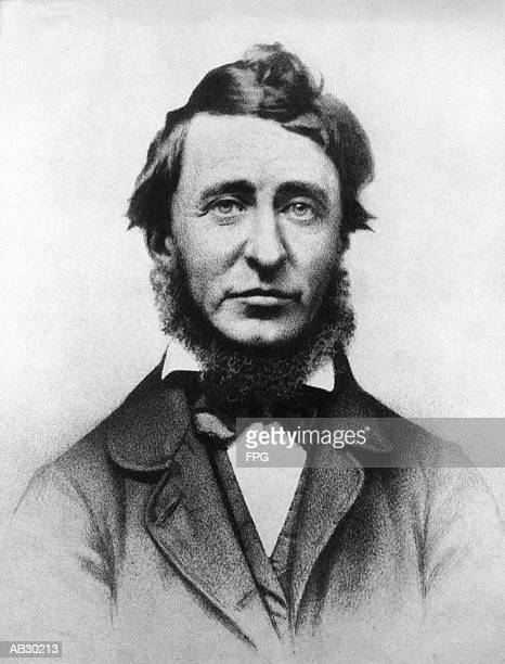 Henry David Thoreau (1817-62), American naturalist and author (B&W)