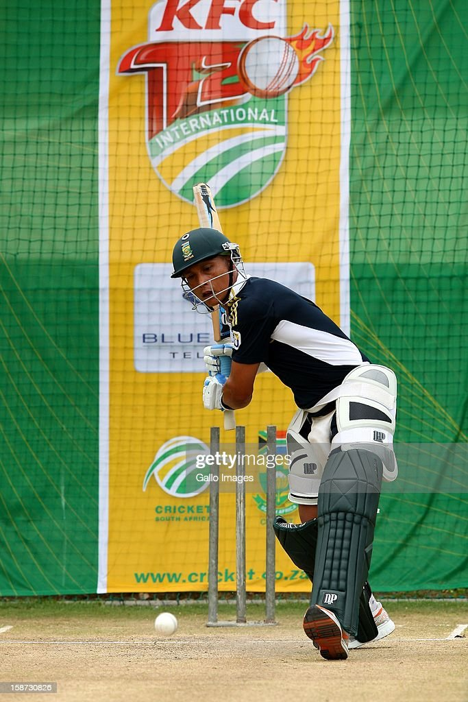 Henry Davids of South Africa during the 3rd T20 International match between South Africa and New Zealand at AXXESS St Georges on December 26, 2012 in Port Elizabeth, South Africa.