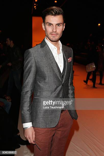 Henry Duval attends the Baldessarini show during the MercedesBenz Fashion Week Berlin Autumn/Winter 2016 at Brandenburg Gate on January 21 2016 in...