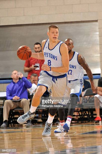 Henry Ellenson of Detroit Pistons handles the ball against the New York Knicks on July 2 2016 at the Amway Center in Orlando Florida NOTE TO USER...