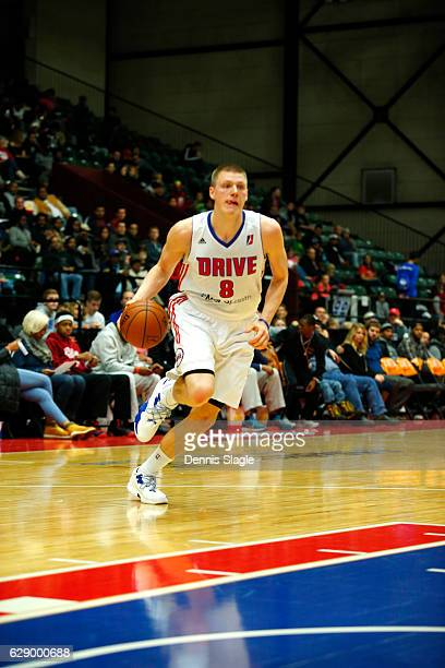 Henry Ellenson of the Grand Rapids Drive handles the ball against the Delaware 87ers at The DeltaPlex Arena on December 10 2016 in Grand Rapids...