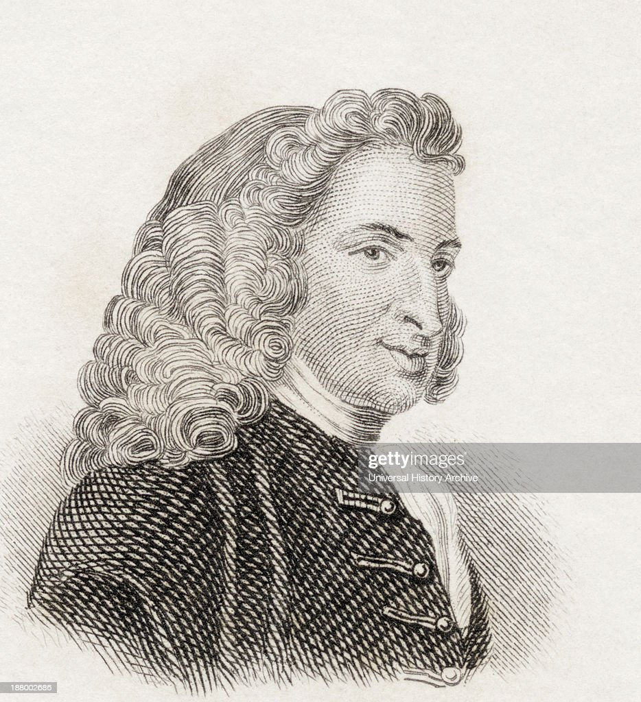 Henry Fielding 1707 To 1754 English Novelist And Dramatist From Crabb's Historical Dictionary Published 1825
