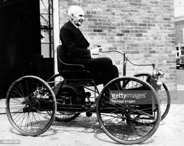 Henry Ford on an 1896 Ford