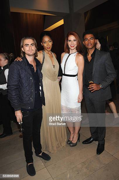 Henry FrostTabitha Holbert Amy Halldin and Mandela Van Peebles attend the premiere screening of 'Night One' of the four night epic event series...