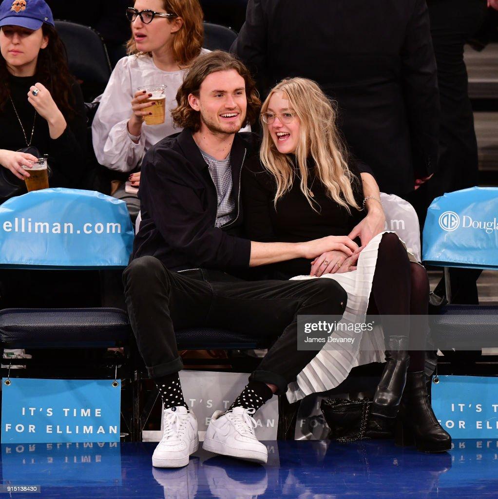 Celebrities Attend The New York Knicks Vs Milwaukee Bucks Game