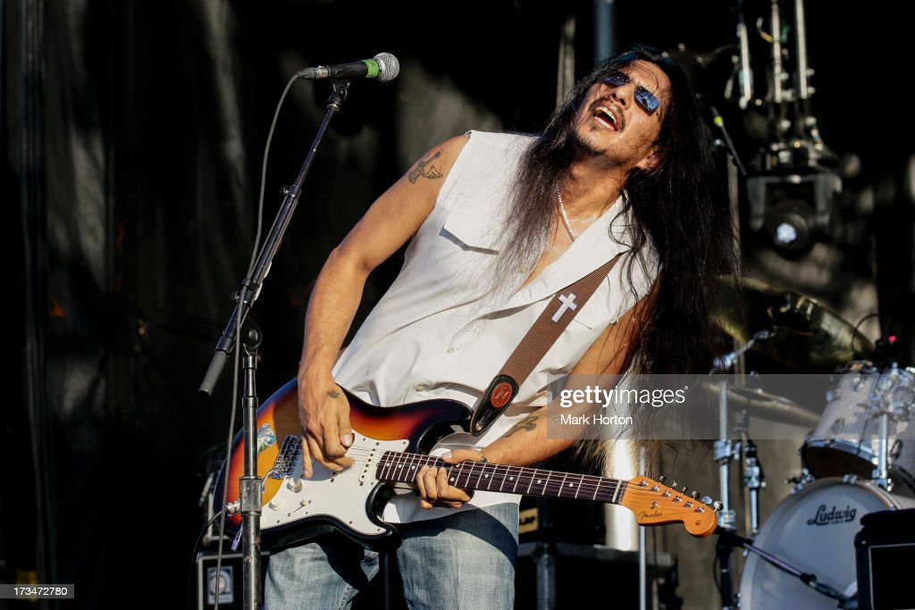 Henry Garza of Los Lonely Boys performs on Day 10 of the RBC Royal Bank Bluesfest on July 14, 2013 in Ottawa, Canada.