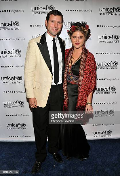 Henry Hager and Jenna Bush attend the 2nd Annual UNICEF Masquerade Ball at The Angel Orensanz Foundation on October 27 2011 in New York City