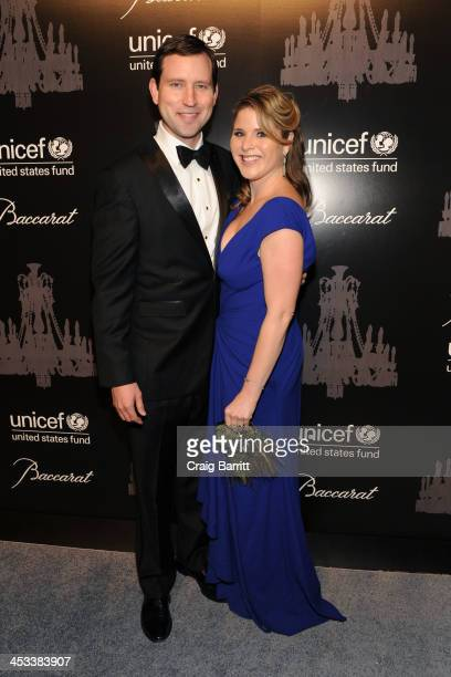 Henry Hager and Jenna Bush Hager attends the 9th annual UNICEF Snowflake Ball at Cipriani Wall Street on December 3 2013 in New York City