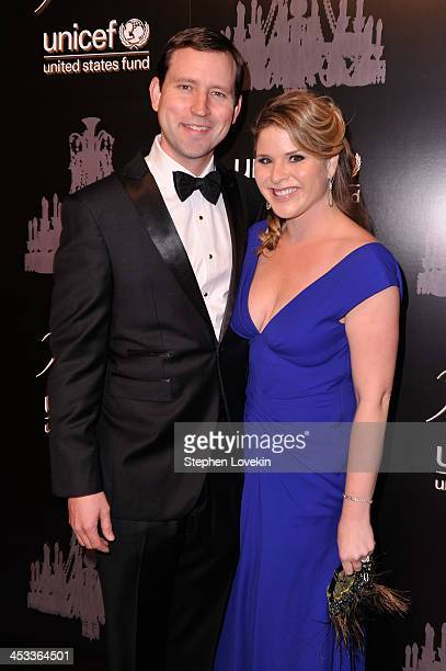 Henry Hager and UNICEF Next Generation Chair Jenna Bush Hager attend The Ninth Annual UNICEF Snowflake Ball at Cipriani Wall Street on December 3...