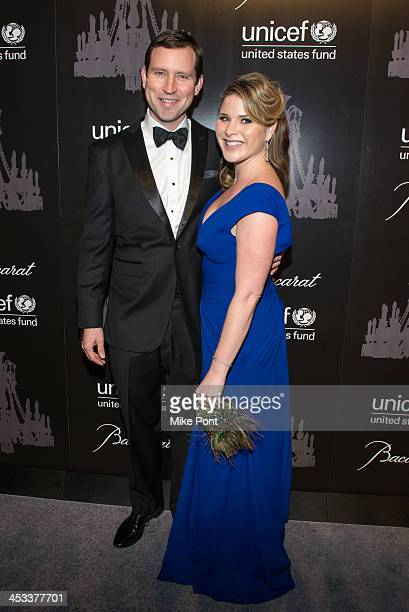 Henry Hager and UNICEF Next Generation Chair Jenna Bush Hager attend the 9th annual UNICEF Snowflake Ball at Cipriani Wall Street on December 3 2013...