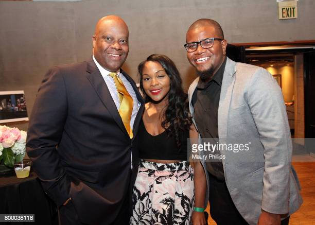 Henry Hicks III Em Jai and Randy C Bonds attend the National Museum of African America Music presented by Los Angeles Salon at Henson Recording...