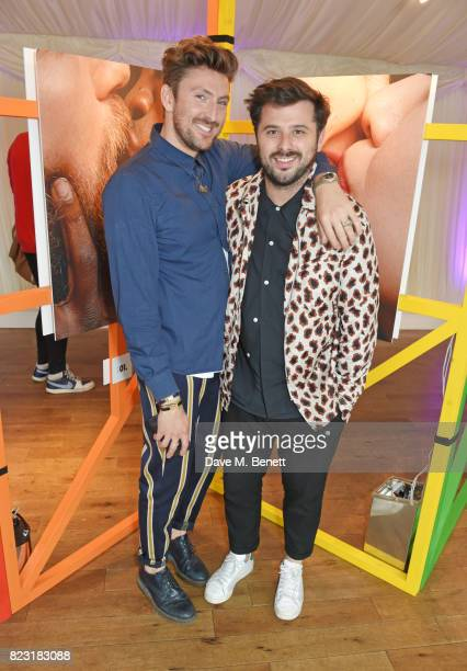 Henry Holland and David Hodgson attend Absolut's #KissWithPride event at the Houses of Parliament in celebration of the 50th anniversary of The...