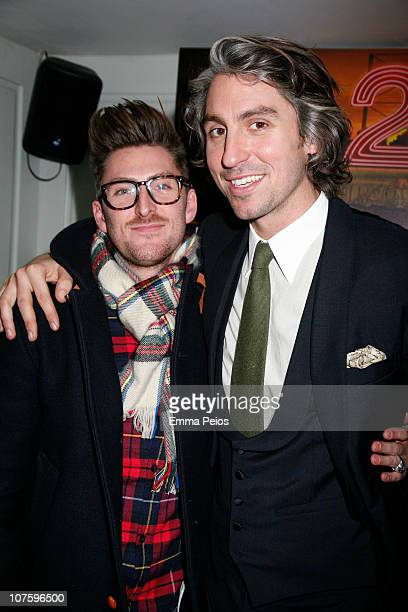 Henry Holland and George Lamb attend Maybelline New York Limited Edition Calendar launch at Soho House London on December 14 2010 in London England