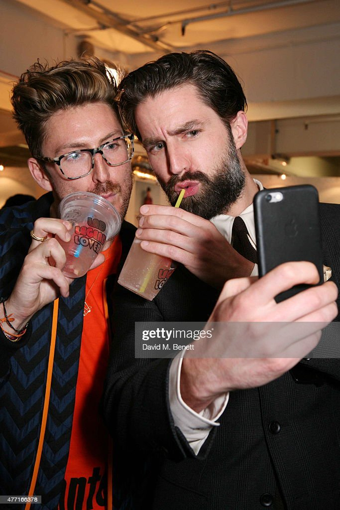 Henry Holland and Jack Guinness attend the House of Holland presentation during London Collections Men SS16 on June 14, 2015 in London, England.