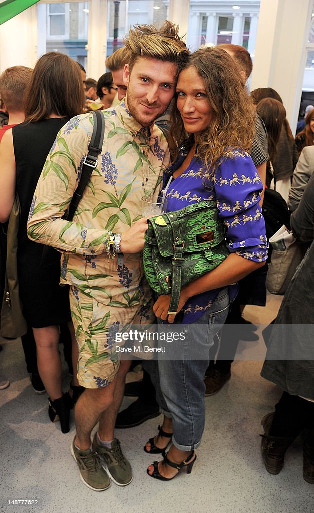 Henry Holland and Lulu Kennedy attend the launch of the Opening Ceremony PopUp Store in Covent Garden on July 19 2012 in London England