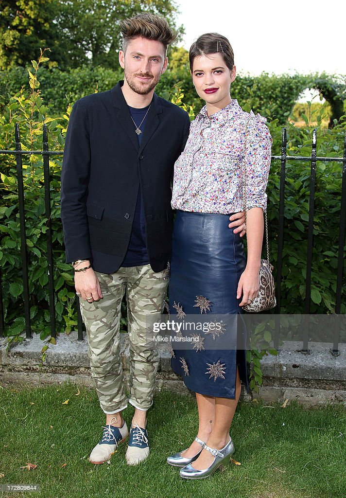 <a gi-track='captionPersonalityLinkClicked' href=/galleries/search?phrase=Henry+Holland+-+Fashion+Designer&family=editorial&specificpeople=1637233 ng-click='$event.stopPropagation()'>Henry Holland</a> and <a gi-track='captionPersonalityLinkClicked' href=/galleries/search?phrase=Pixie+Geldof&family=editorial&specificpeople=208703 ng-click='$event.stopPropagation()'>Pixie Geldof</a> attend the launch party for the Fashion Rules exhibition, a collection of dresses worn by HRH Queen Elizabeth II, Princess Margaret and Diana, Princess of Wales at Kensington Palace on July 4, 2013 in London, England.