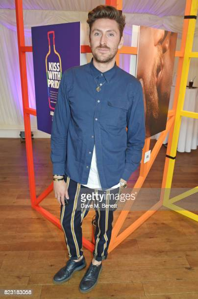 Henry Holland attends Absolut's #KissWithPride event at the Houses of Parliament in celebration of the 50th anniversary of The Sexual Offences Act on...