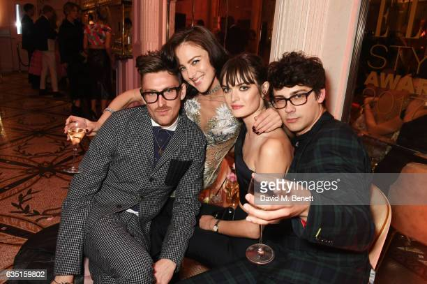 Henry Holland Eliza Cummings Sam Rollinson and Matt Richardson attend the Elle Style Awards 2017 after party on February 13 2017 in London England