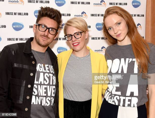 Henry Holland Emma Gannon and Lily Cole launch recycled plastic #swapforgood charity tshirts designed by Henry Holland in conjunction with BRITA to...