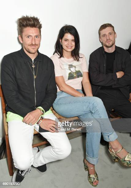 Henry Holland Pixie Geldof and George Barnett attend the ALEXACHUNG London Launch Summer 17 Collection Reveal at the Danish Church of Saint Katharine...