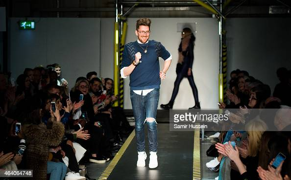 Henry Holland walks the runway at the House of Holland show during London Fashion Week Fall/Winter 2015/16 at University of Westminster on February...