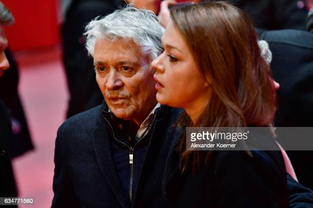Henry Huebchen and his daughter Nora Huebchen attend the 'Wild Mouse' premiere during the 67th Berlinale International Film Festival Berlin at...