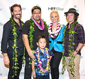 Henry Ian Cusick Jonathan Lim Maddox Lim Lauren Sweetser and Jackson Rathbone arrive for the world premiere of 'Pali Road' at the 2015 Hawaii...