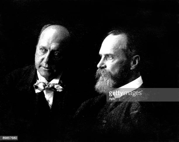 Henry James american naturalised english novelist and his brother William James american philosopher picture by Marie Leon 1908